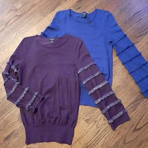 2 beautiful sweaters with fringe bell sleeves